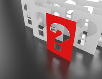Question mark blocks. Royalty Free Stock Image