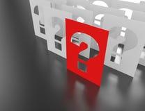 Question mark blocks. Royalty Free Stock Image