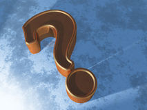 Question Mark on blue Stock Photography
