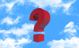 Question mark on blue sky Stock Photography