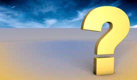 Question Mark blue sky concept Royalty Free Stock Image