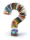 Question mark from books. Searching information or FAQ edication Stock Images