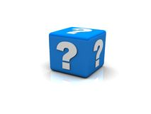 Question mark box Stock Image