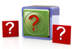 Question mark box Royalty Free Stock Photo