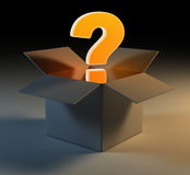 Question mark in box Royalty Free Stock Photo