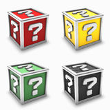 Question Mark Box Set Stock Images