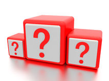 Question mark boxes. Royalty Free Stock Images