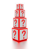 Question mark boxes. Stock Photography