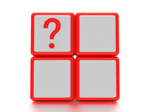 Question mark boxes. Royalty Free Stock Photo
