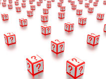 Question mark boxes. Royalty Free Stock Photography