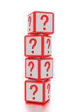 Question mark boxes. Royalty Free Stock Image