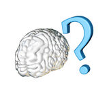 Question mark brain Stock Photo