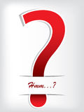 Question mark brochure Stock Images