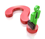 Question mark and business people Royalty Free Stock Images