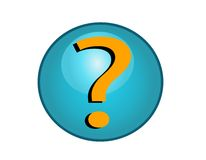 Question Mark Button Stock Image