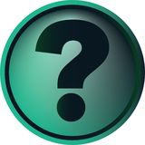 Question-mark button Stock Images