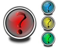 Question Mark Buttons vector illustration