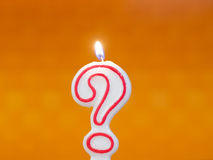 Question mark candle Royalty Free Stock Photo