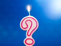 Question mark candle Royalty Free Stock Images