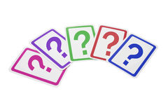 Question Mark Cards Stock Photo