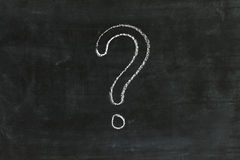 Question mark on chalkboard Stock Photography