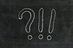 Question mark on chalkboard Royalty Free Stock Photography