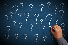 Question Mark Chalkboard Royalty Free Stock Photography