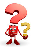 Question Mark Character Photos stock