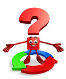 Question Mark character with arrow Royalty Free Stock Photos