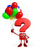 Question Mark character with Balloon Stock Images