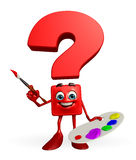 Question Mark character with Color plate Royalty Free Stock Photo