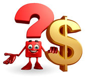 Question Mark character with dollar sign Royalty Free Stock Images