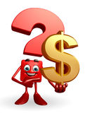 Question Mark character with dollar sign Royalty Free Stock Photos