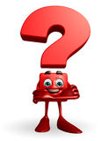 Question Mark character with folding hand Stock Photo