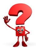 Question Mark character with hello pose Stock Images
