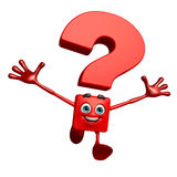 Question Mark character with hello pose Royalty Free Stock Image