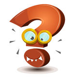 Question Mark Character. Illustration of a happy funny cartoon question mark character icon, for search engine mascot symbol Royalty Free Stock Photography