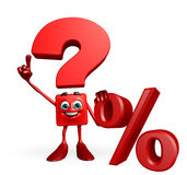 Question Mark character with percent sign Stock Photos