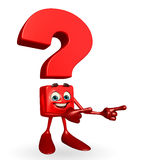 Question Mark character is pointing Royalty Free Stock Image
