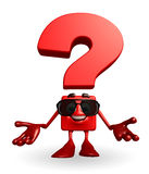 Question Mark character is presenting Royalty Free Stock Photo