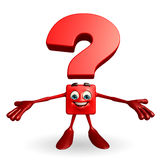 Question Mark character with presenting pose Royalty Free Stock Image