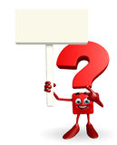 Question Mark character with sign Royalty Free Stock Photo