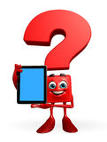 Question Mark character with tab Royalty Free Stock Photography