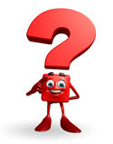 Question Mark character with thinking pose Stock Photography
