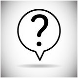 Question Mark Chat Bubble Icon Images stock