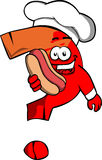 Question mark chef with hot dog Royalty Free Stock Images