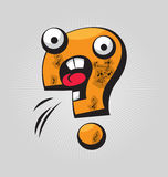 Question Mark. Childish confused question mark with big eyes and funny face expressions royalty free illustration