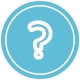 Question mark circular icon. A creative illustrated question mark circular icon image vector illustration