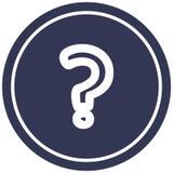 Question mark circular icon. A creative illustrated question mark circular icon image stock illustration