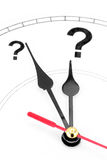 Question mark clock. Concept of time Stock Photos